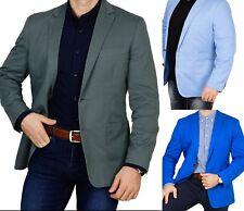 Herren Sakko untersetzt Comfort Fit Übergröße Blazer Zweiknopf Jackett Anzug