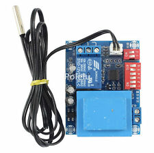 220V -26~100°C Adjustable Temperature Control DIP Switch Relay Thermostat+Probe