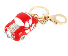 Lovely Red Car New Fashion Cute Crystal Charm Pendant Purse Bag Keyring Chain