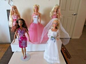 LOT OF 5 CONTEMPORARY BARBIE DOLLS- NICE