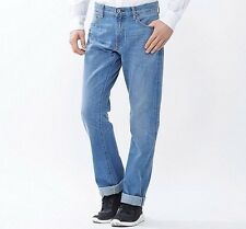 Uniqlo Japanese Selvedge Light Weight Linen Denim Straight Jeans Mens 31x34 NWT