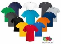 Fruit Of The Loom MEN'S V-NECK T-SHIRT SUMMER PLAIN TEE COTTON SIZES S-2XL OFFER