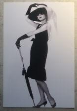 Movie Postcard ~ Audrey Hepburn standing with umbrella