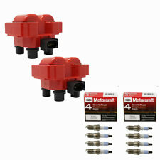 Performance FD487 Ignition Coils (8) Motorcraft SP432 Spark Plugs For Ford Mazda