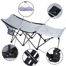 Portable Folding Camping Adventure Camp Bed Durable Hammock Sleeping Cot Steel