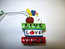 Teacher Ornament - featuring Books and Desk Tools