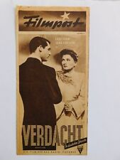"Filmpost 87-Cary Grant, Joan Fontaine in ""VERDACHT""/SUSPICION/ - cinema program"