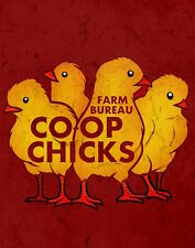 """TIN SIGN """"Co-Op Chicks Multiple""""  Food Deco Rustic Wall Decor"""