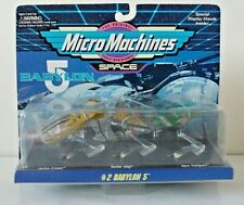 Vintage Galoob 1994 Micro Machines Space Babylon 5 set #2 Factory Sealed on card