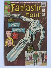 Fantastic Four # 50 us Marvel 1966 3rd Silver Surfer Galactus Kirby VFN -