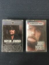 Waylon Jennings - Collector Series Hits & Johnny Paycheck Cassette Tapes