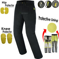 Mens Motorcycle Jeans Trouser lined with Kevlar CE armour Trouser / Pant