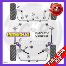 BMW E36 3 Series Compact (1993-2000) Front Caster Adj Powerflex Kit No Eng Mnts