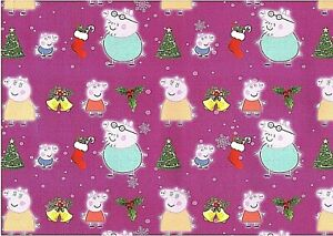 Peppa Pig Quality Kids Christmas Wrapping Paper 4 Sheets 4 tags Xmas Gift Wrap