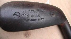 RARE Antique WRIGHT&DITSON CRAN CLEEK CIRCA 1897 PATENT Wood Shaft Golf Club WOW