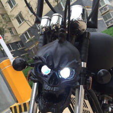 LED Skull Head Light Headlight Lamp for Harley Choppers Cruiser Custom GD