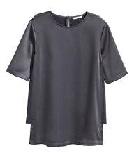 H&M Bluse Hemd Tunika Shirt Jacke Gr.36 dunkelblau NEU zu Rock Hose