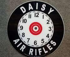 "*NEW* 14.25"""" DAISY AIR RIFLE GUNS RD GLASS FACE PAM CLOCK"