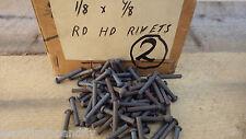 """PACK OF 50  1/8"""" x 7/8"""" ROUND HEAD STEEL IRON RIVETS  NOS RESTORE STEAM    BOX 2"""