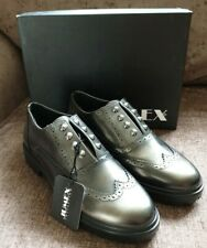 Jumex Shoes Brogues Metallic Two Grey Slip On Womens Size 3 Studded Womens New