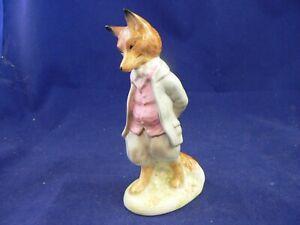 "BESWICK Beatrix Potter"" FOXY WHISKERED GENTLEMAN BP1a GOLD CIRCLE RARE"
