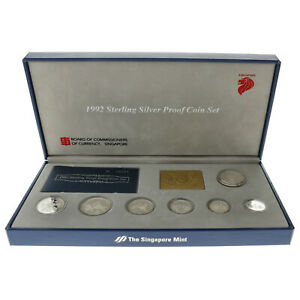 Singapore - Sterling Silver Coin Set - 1992 - Proof