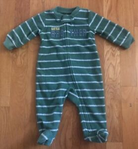 Carter's Green Little Brother One Piece Pajamas -Size 3M