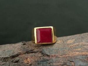 Natural Red Ruby Ring 925 Solid Sterling Silver Ruby Gemstone Handmade Ring