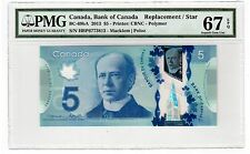 "Canada $5 2013 BC-69bA PMG Superb GEM UNC 67 EPQ "" Single Note Replacement """