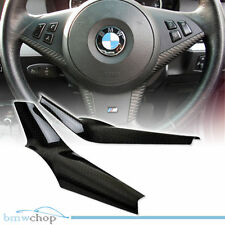 Real Carbon BMW 5-Series E60 Saloon M5 Model Steering Wheel Cover Trim 05-10 ◎
