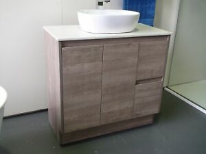 MELBOURNE 900 WOODEN BATHROOM VANITY WITH STONE TOP, BASIN NOT INCLUDED, BV16OT
