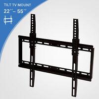 LCD LED Plasma Flat Tilt TV Wall Mount Bracket 22 27 32 37 40 42 46 47 50 55