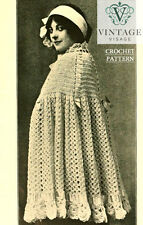 Vintage Visage repro pattern-downton abbey era crochet pattern for a cape cloak