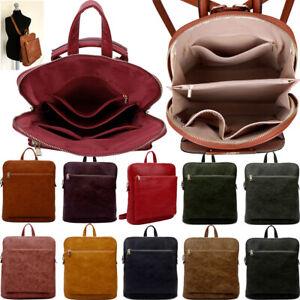 "Womens Rucksack Ladies Laptop Bag Backpack 13 15"" Inch Plain Work Bag Cross Body"
