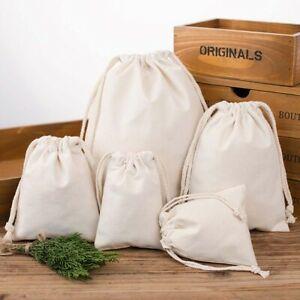 Cotton Fabric Dust Cloth Drawstring Storage Bag Clothes Receive Bags Sundry Bags