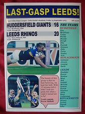 Huddersfield Giants 16 Leeds Rhinos 20 - 2015 Super League - souvenir print