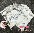 100 Designer Printed Poly Mailers 10X13 Shipping Envelopes Bags Marble Diamond