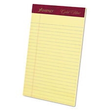 Ampad Gold Fibre Writing Pads College/Medium 5 x 8 Canary 50 Sheets 20004