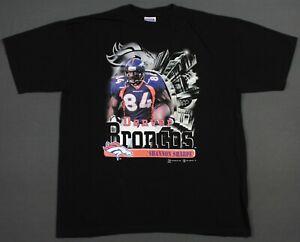 Shannon Sharpe Denver Broncos Vintage 1999 NFL Players T-Shirt 2XL 90's