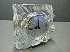 Beautiful And Very Hard To Find Daum Crystal Art Glass Clock France
