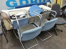 Set of 6 Blue Matching Chairs used