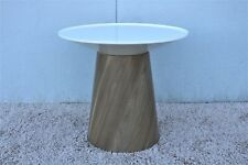 Steelcase Campfire Paper Table Features Spinning Table Top, Modern Style