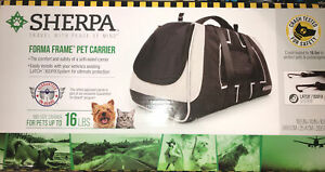 Sherpa Forma Frame Airline Approved Crash Tested Pet Carrier, Black, Medium