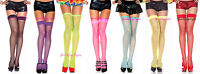 SPANDEX FISHNET Thigh Highs OVER-THE-KNEE School Girl Stockings SOCK Ravewear OS