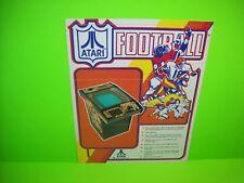 Atari FOOTBALL Original 1978 Video Arcade Game Retro Vintage Promo Sales Flyer