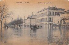 PARIS FRANCE CRUE de la SEINE~QUAI de la RAPEE~FLOOD POSTCARD