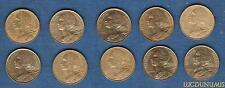 Vème République, 1959- -G Lot de 10 pièces de 5 Centimes Marianne TB à SUP (PORT