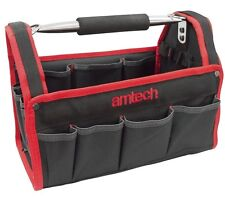 """13"""" Heavy Duty Tool Caddy Storage Aluminium Bag Carry Case Plumbers Electricians"""