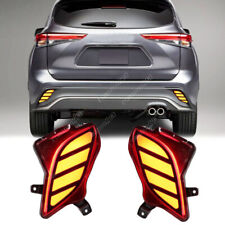 For Toyota Highlander 2020 LED Rear Bumper Fog Lights Brake Lights Turn Lights