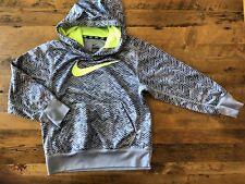 4c531c14 Nike Pullover Hoodie Athletic Sweatshirt Boys Youth XS Gray Zig Zag Big  Swoosh